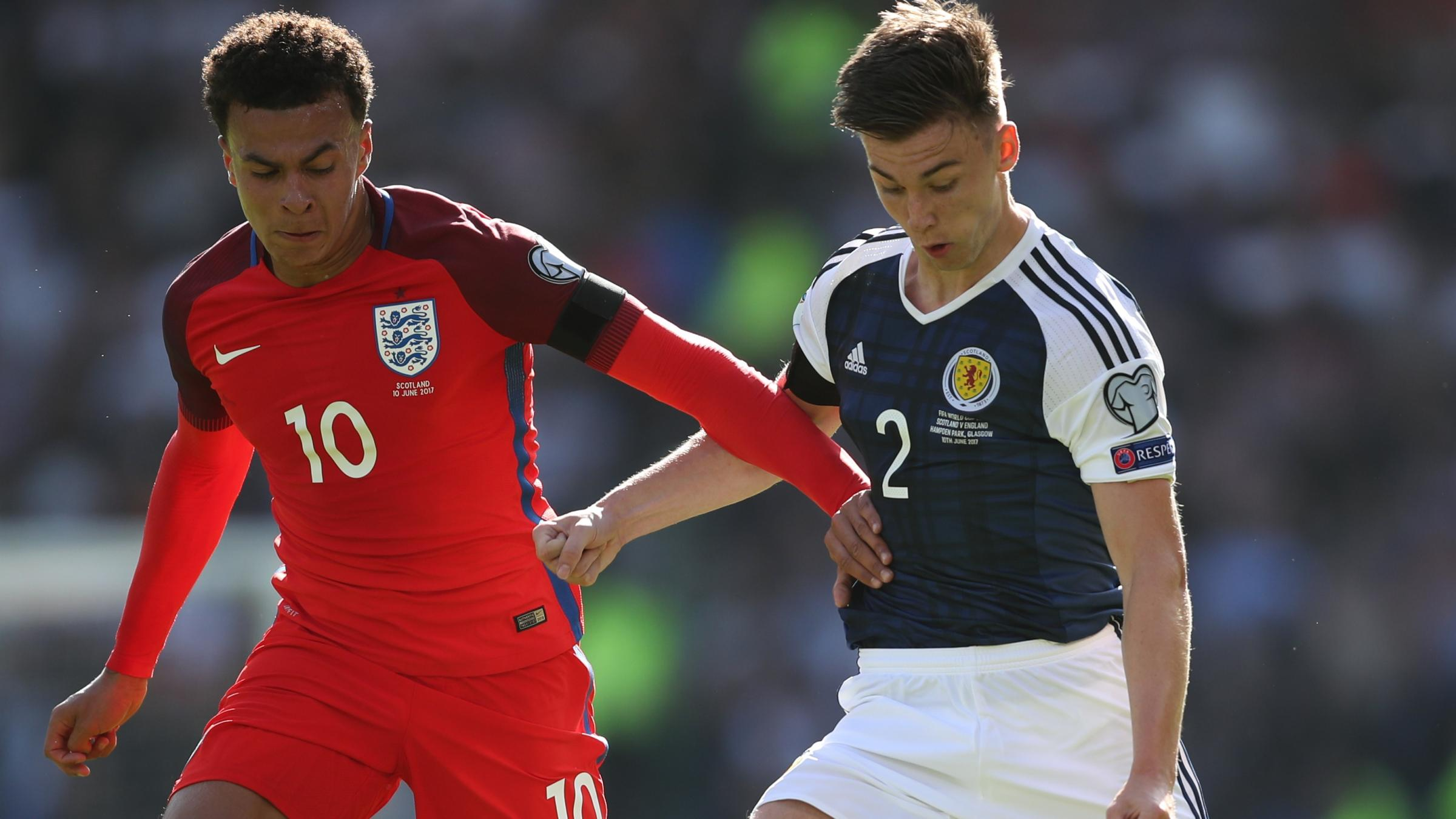 Kane silences Scotland's celebration with late leveller for England